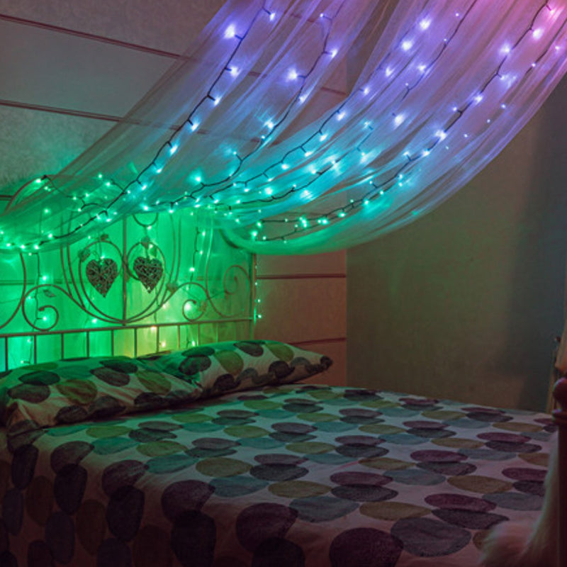 Spirit-Lifting Customizable LEDs in the bedroom other color