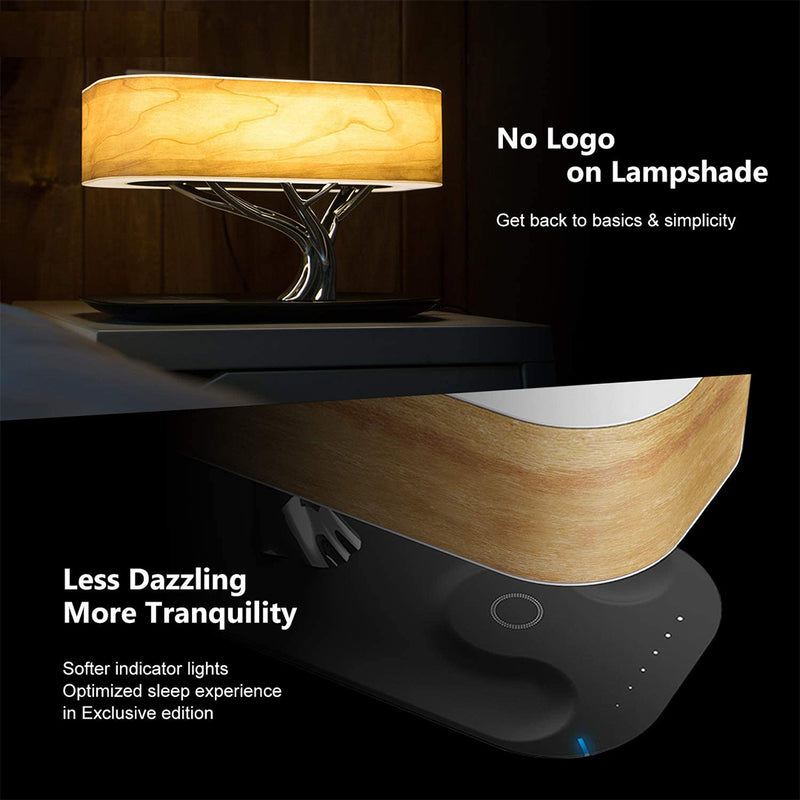 Table Lamp with Wireless Charger & Speaker