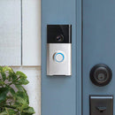 Wi-Fi Enabled Video Doorbell on blue door lifestyle