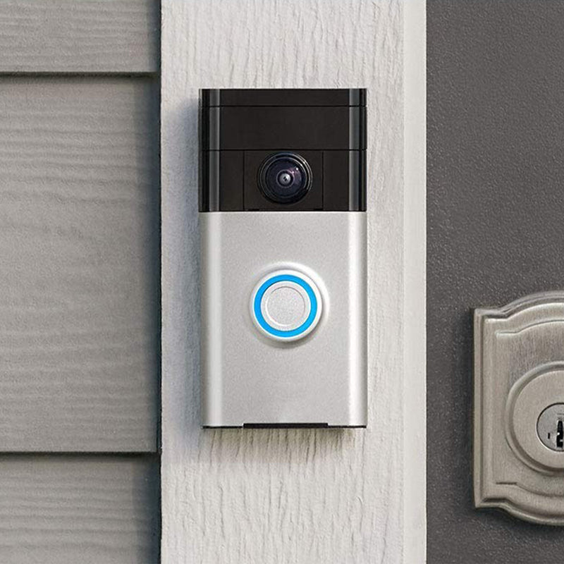 Wi-Fi Enabled Video Doorbell front view lifestyle