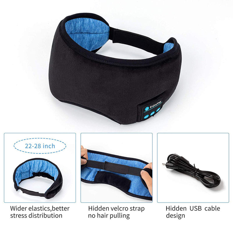 bluetooth sleeping mask infographic in the box