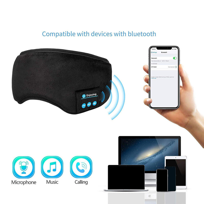 bluetooth sleeping mask infographic compatibility