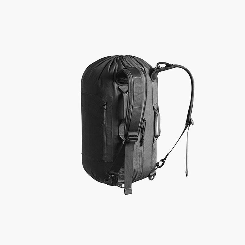 Collapsible luggage backpack black