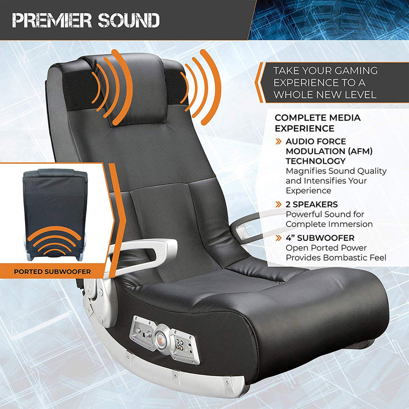 Floor Video Gaming Chair premier sound features infographic