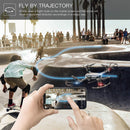 Foldable Wifi Drone Camera fly by trajectory infographic