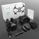 Foldable Wifi Drone Camera in the box components