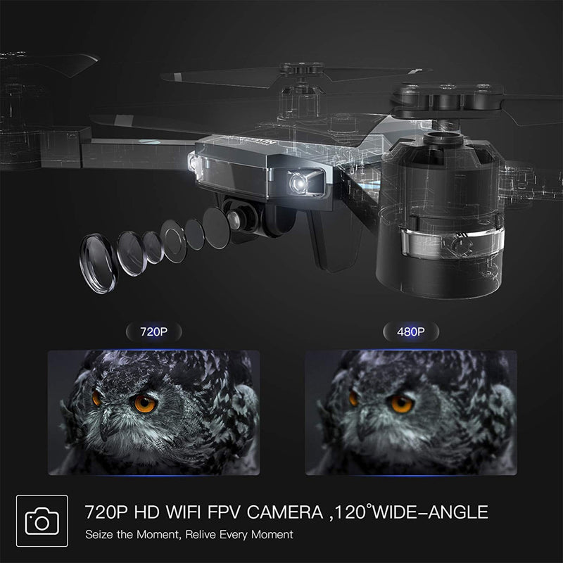 Foldable Wifi Drone Camera 720 HD WIFI FPV Camera 120 Wide angle