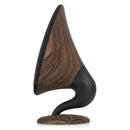 gramophone bluetooth speaker walnut side view