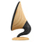 gramophone bluetooth speaker oak side view