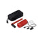 hand crank charger red components