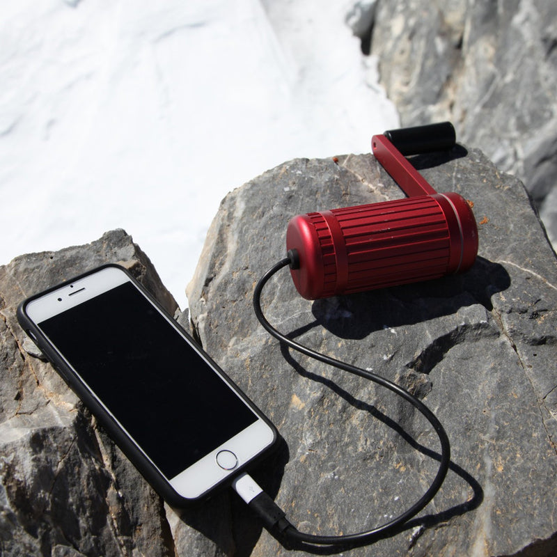 hand crank charger red lifestyle charging phone