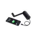 hand crank charger black charging phone