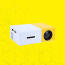 mini projector yellow on yellow background