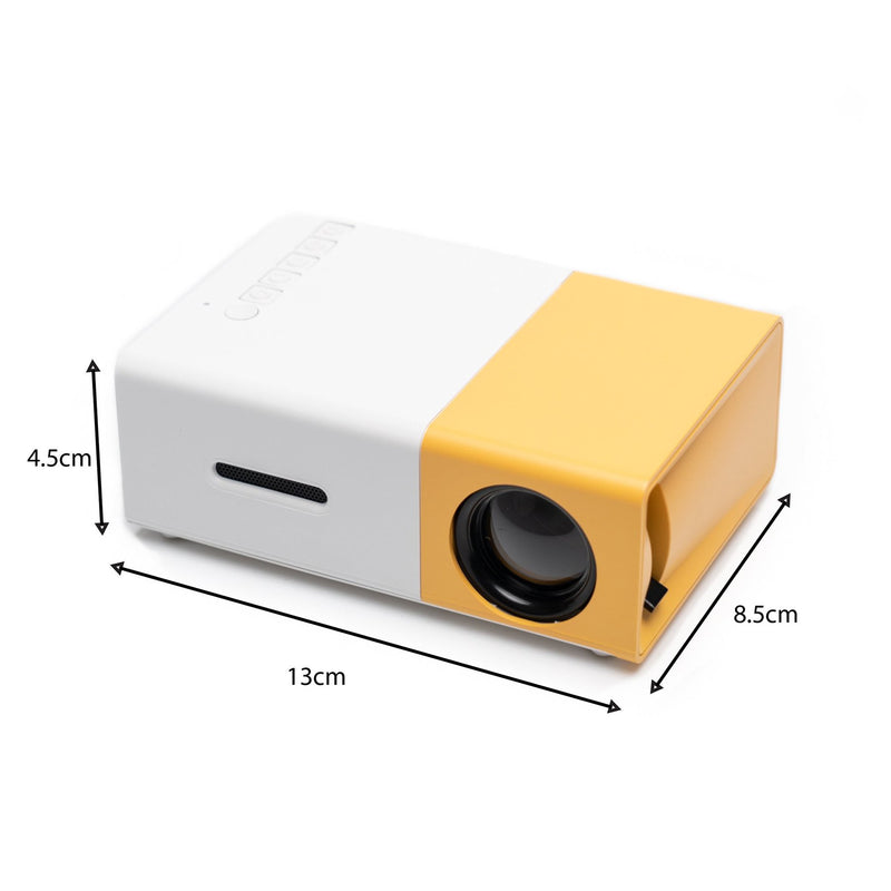 mini projector size