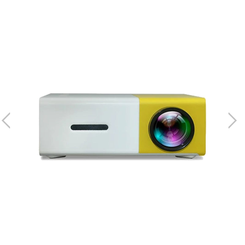mini projector yellow front view