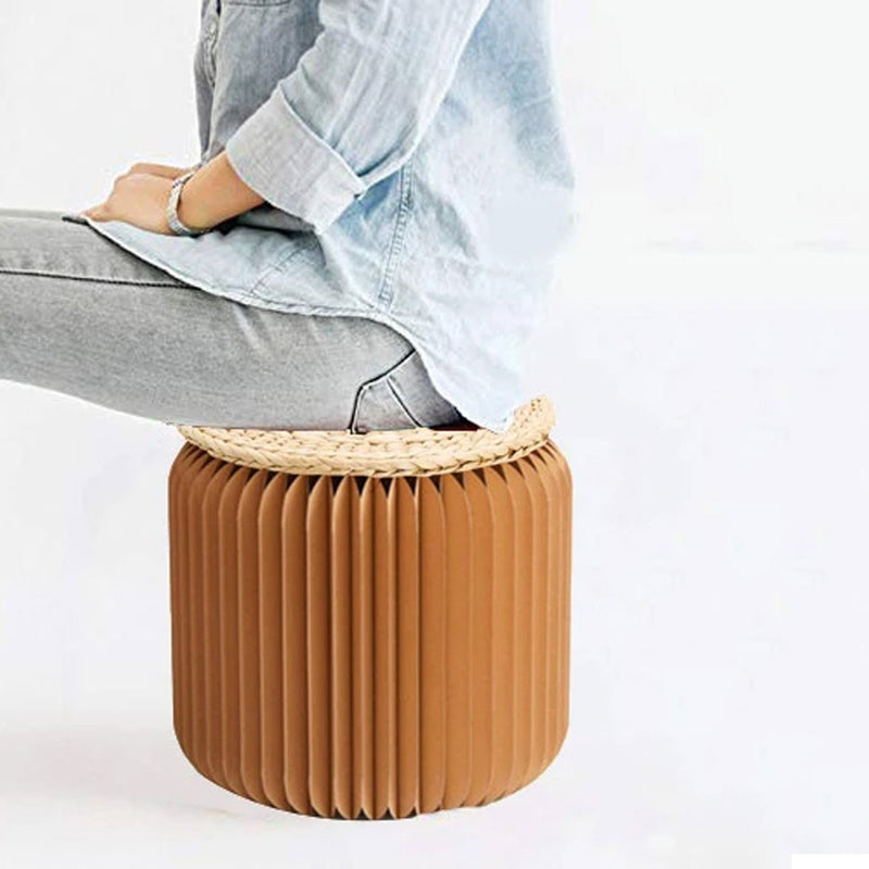 paper stool chair lifestyle sitting