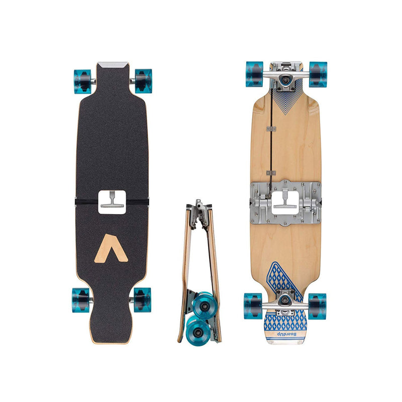 portable mini skateboard front and back view