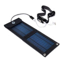 portable solar panel charging head lamp