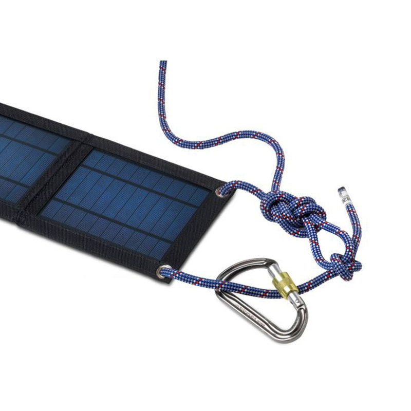 portable solar panel eyelet attachement points