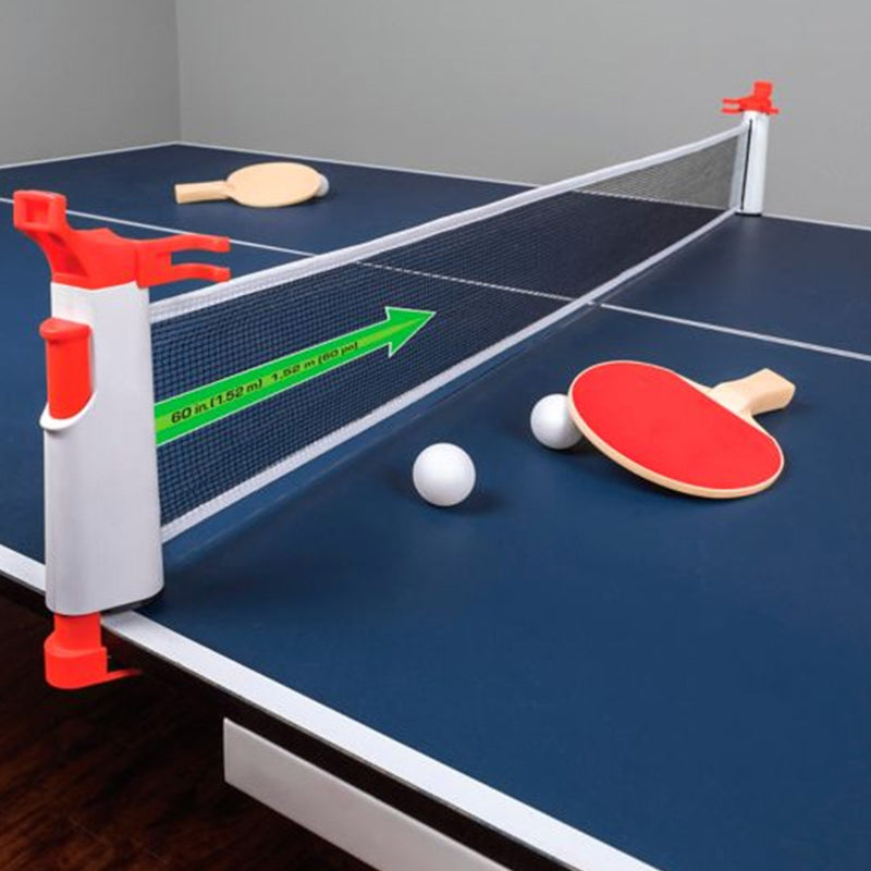 Retractable Table Tennis Net expanding infographic