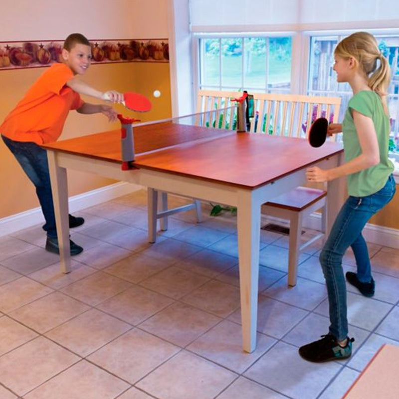 Retractable Table Tennis Net lifestyle girl an buy playing