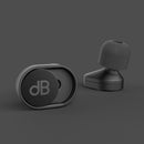 reusable ear plugs lifestyle on black background