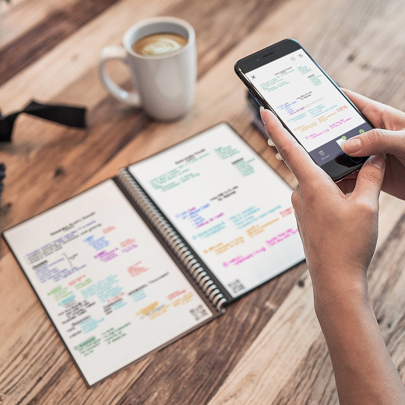 reusable notebook lifestyle phone app