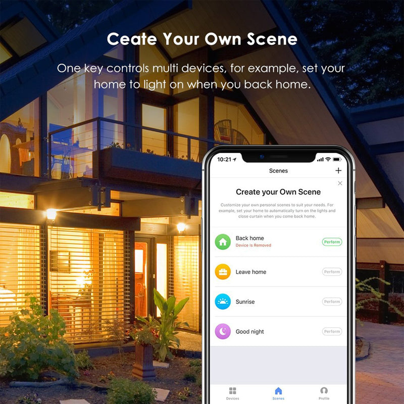 Smart Plug create your own scene with the app lifestyle