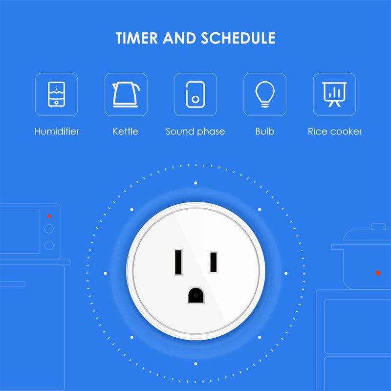 Smart Plug time and schedule infographic