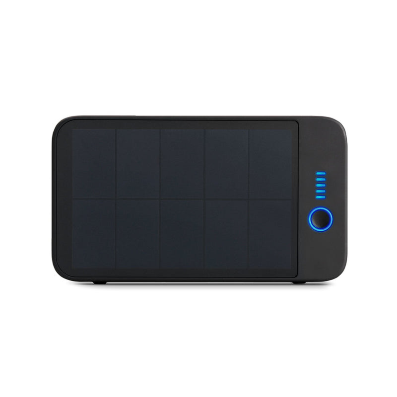 solar bluetooth speaker back view