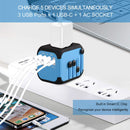 Universal Travel Adapter lifestyle devices plugged simultaneously