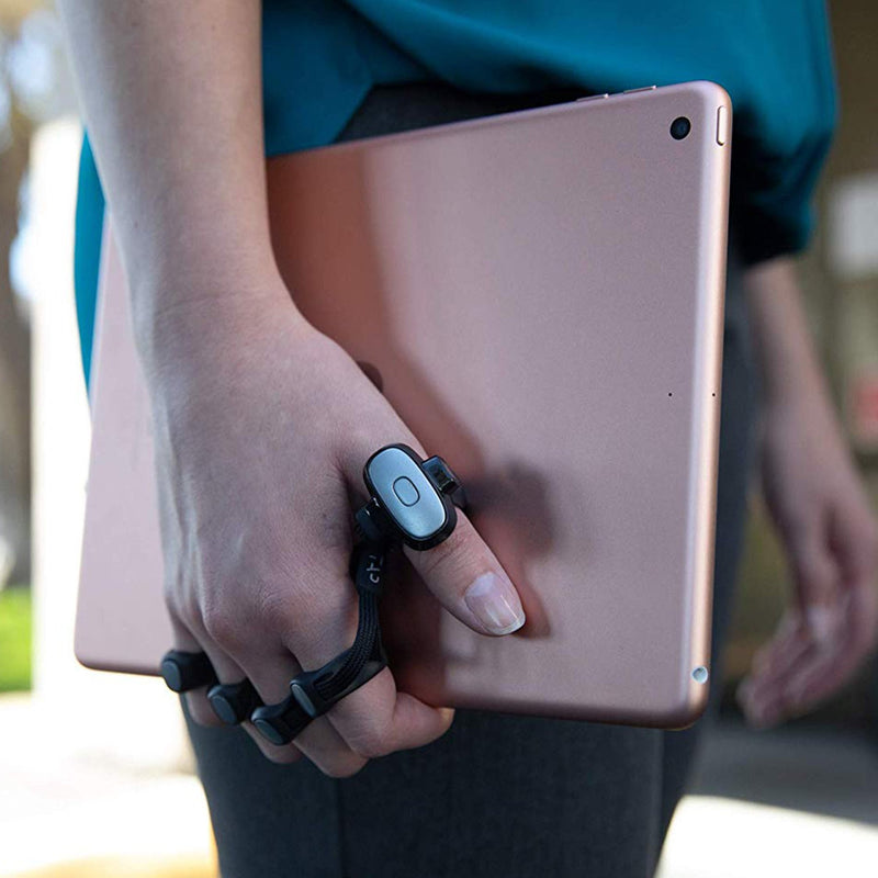 wearable keyboard lifestyle holding laptop