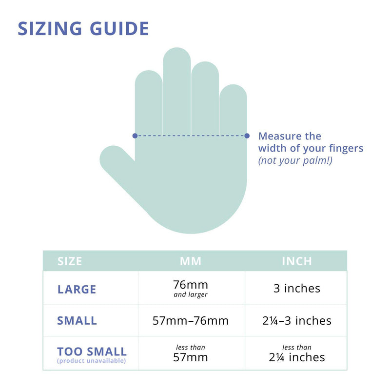 wearable keyboard size infographic