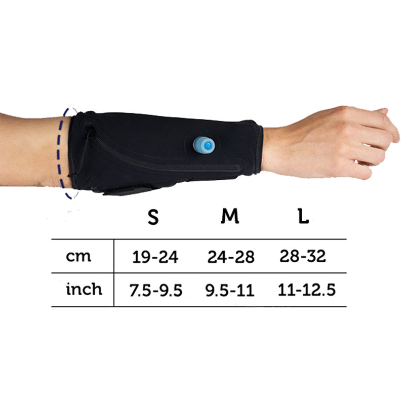 wearable water container size chart