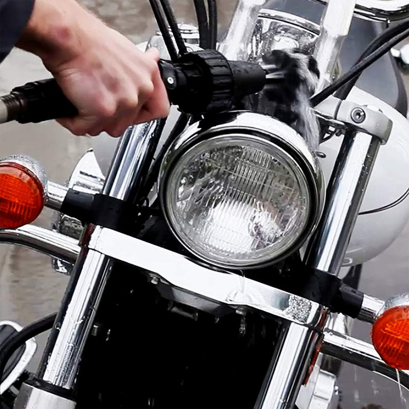 wheel cleaning brush cleaning head light of the bike