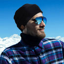 wireless smart beanie lifestyle in ski