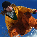 wireless smart beanie lifestyle snowboarder