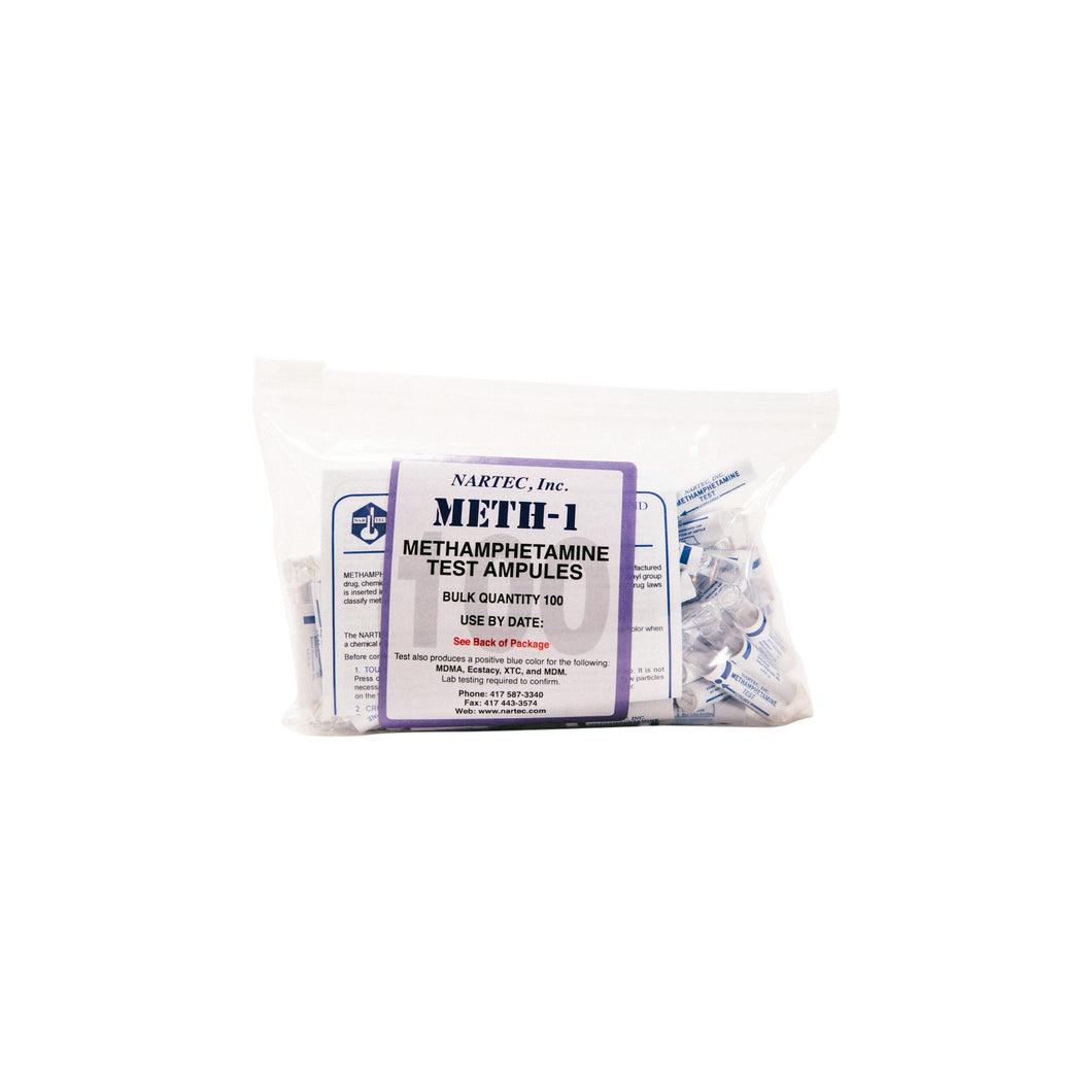 METH-1 Methamphetamine and Ecstasy Test (Bag of 100)