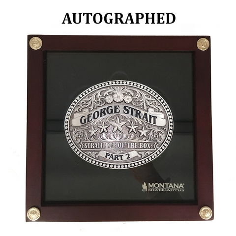 George Strait Autographed Belt Buckle