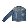 90s Singles Patch Denim Jacket Women's