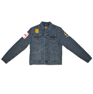 80s Singles Patch Denim Jacket (Men's)