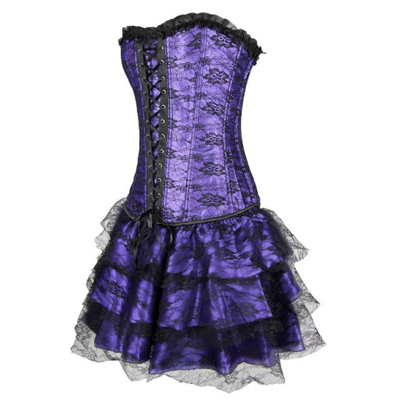 Lace Corset Evening Dress