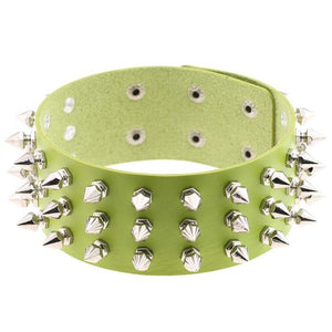 Spiked Leather Choker