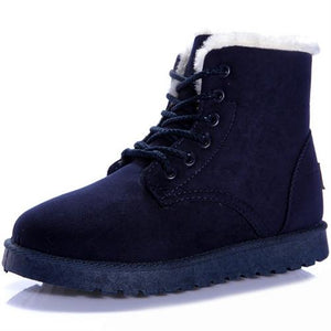 Suede Ankle Boots with Fluffy Lining
