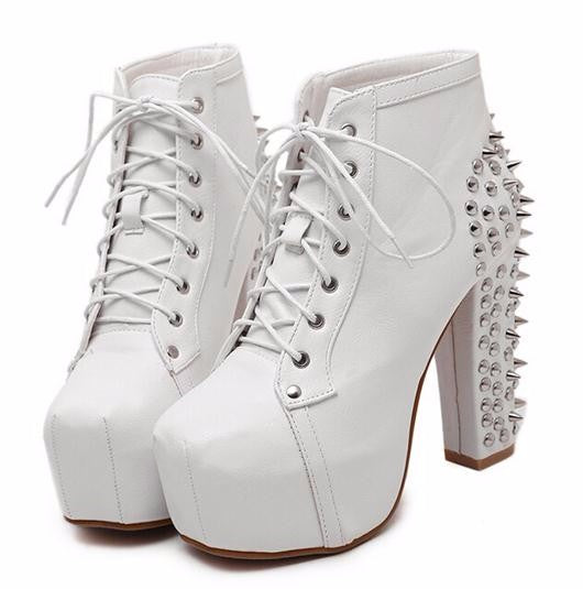 Handmade Spiked High Heels Shoes