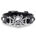 Skull Star Eye Leather Bracelet