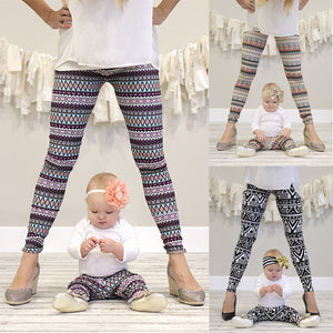 Design patterns leggings mother and daughter