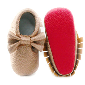 Baby girl bow moccasins