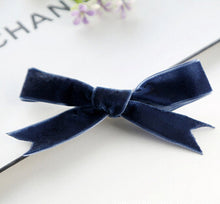 Velvet ribbon clip 2pcs