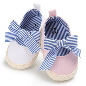 Cute baby girls princess bow shoes first walkers